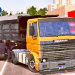 Skins Scania LK Laranja Na Caçamba preta (SKIN SCANIA 113 FRONTAL)