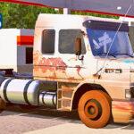 Skins Scania 113 Branca Pintura Velha e Suja No Rodotrem Madeireiro