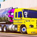 Skins Scania 113 Amarela Na Carreta Tanque Com Pintura Personalizada 'EXCLUSIVA'