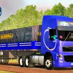Skins Volvo FH Conjunto Azul Escuro No Rodotrem Graneleiro