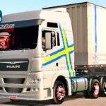 Skins Man Prata Com Faixa Performance Na Carreta Granel Carregado Com Container